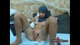 Intense Arab Chick Wearing Her Hijab