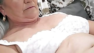 Senior hairy pussy filled with youthful cock
